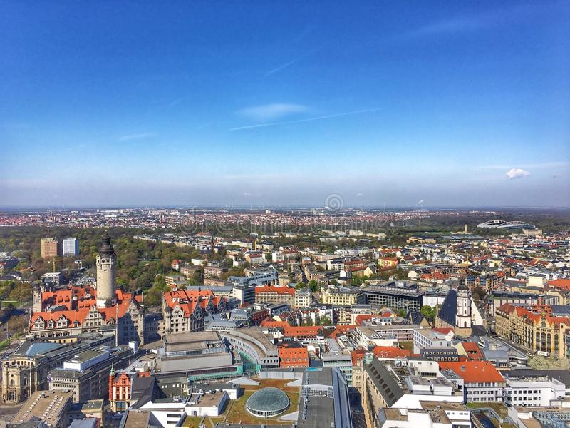 Leipzig stadssikt royaltyfri foto