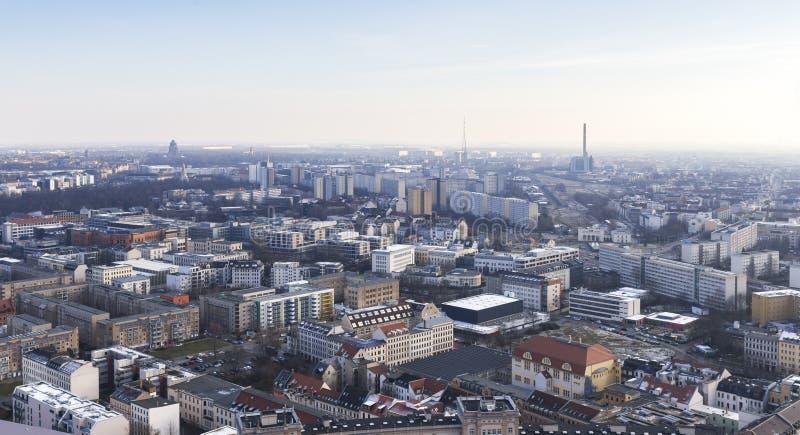 Leipzig Tyskland från över fotografering för bildbyråer
