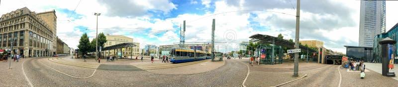 LEIPZIG TYSKLAND - JULI 2016: Turistbesökcentrum Leipzi arkivbilder