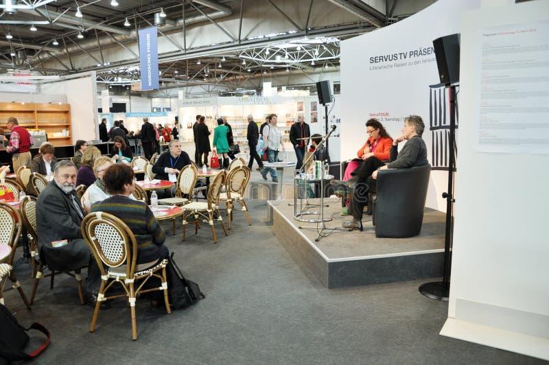 Offentlig dag för den Leipzig bokmarknaden fotografering för bildbyråer