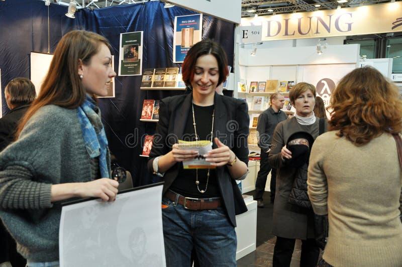 Offentlig dag för den Leipzig bokmarknaden arkivfoton