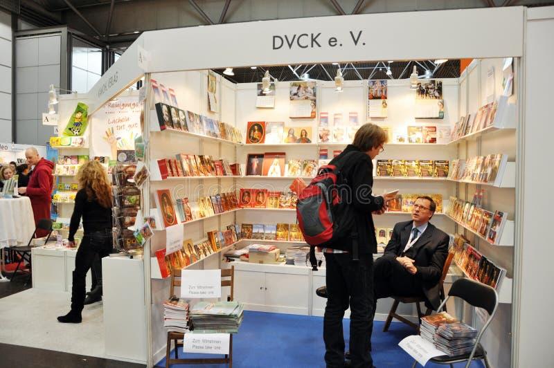 Offentlig dag för den Leipzig bokmarknaden royaltyfria foton