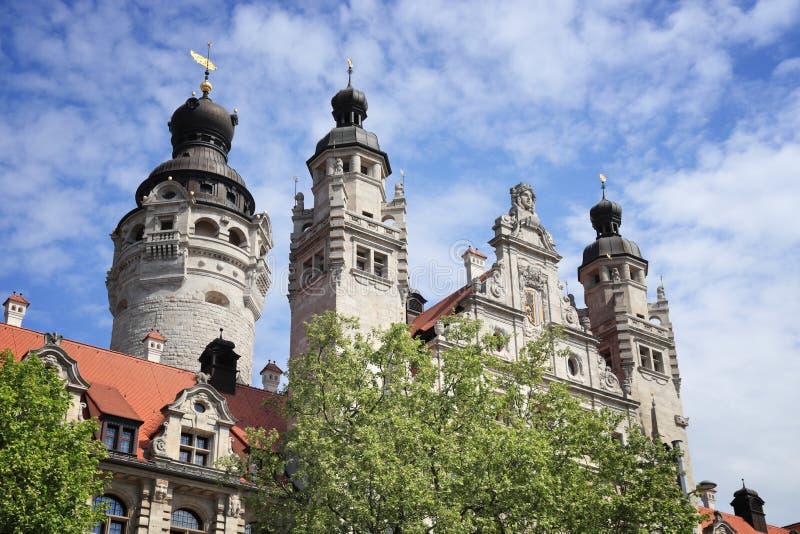Leipzig urząd miasta fotografia royalty free