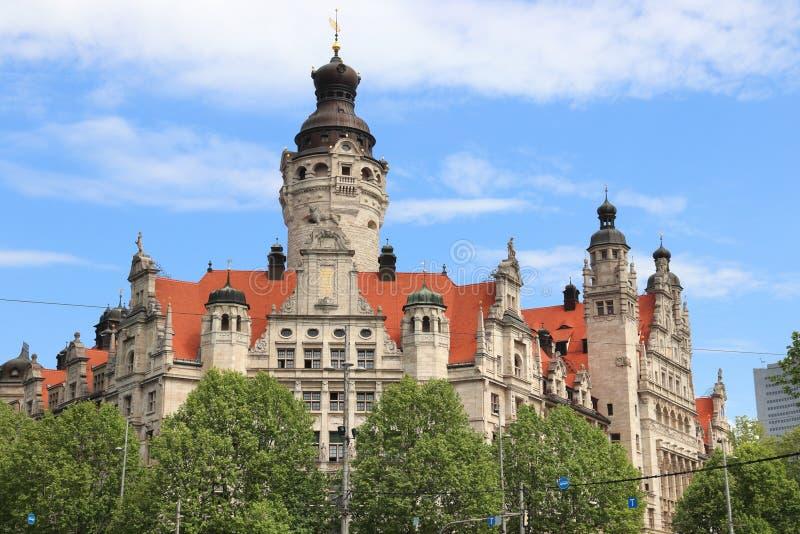 Leipzig urząd miasta zdjęcia stock