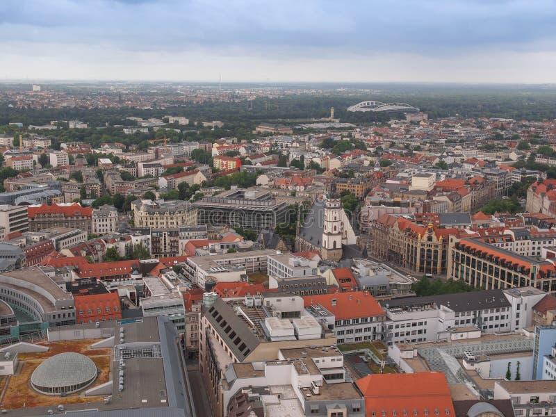 Leipzig-Vogelperspektive lizenzfreies stockfoto