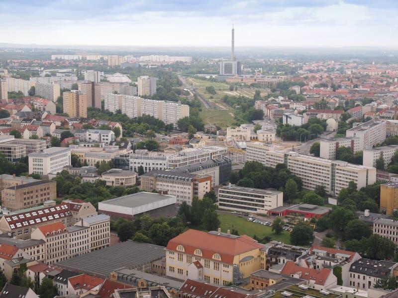 Leipzig-Vogelperspektive stockbild