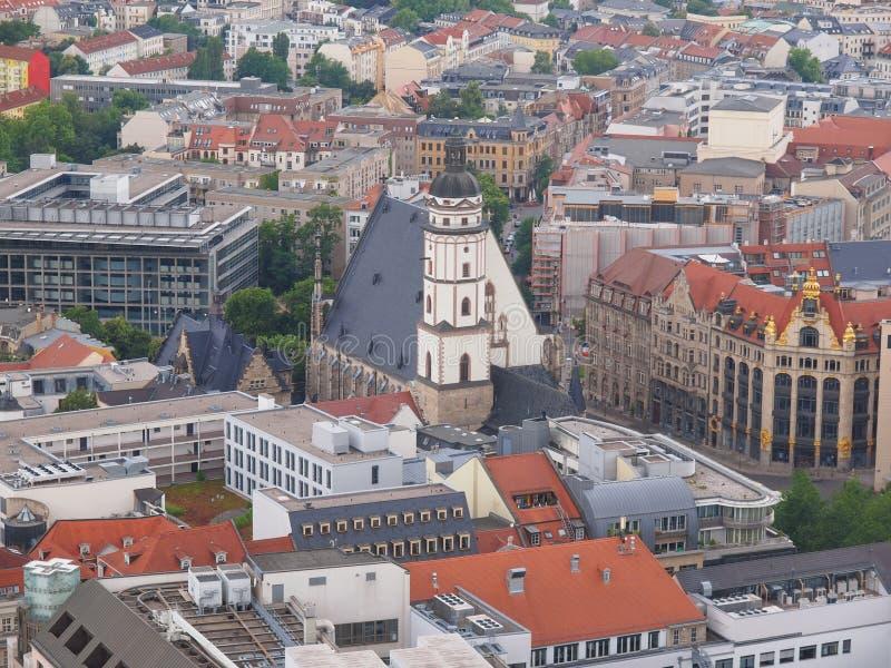 Leipzig-Vogelperspektive lizenzfreies stockbild
