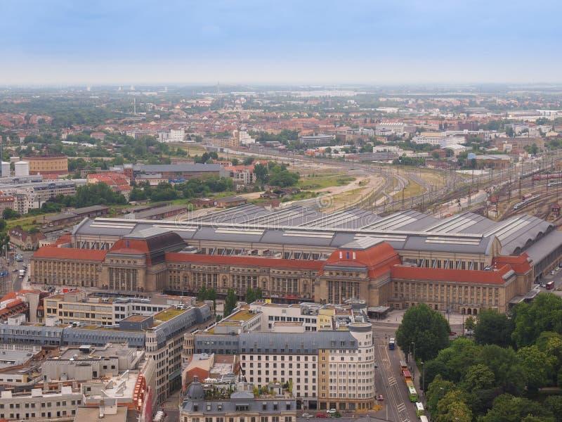 Leipzig-Vogelperspektive stockfotografie