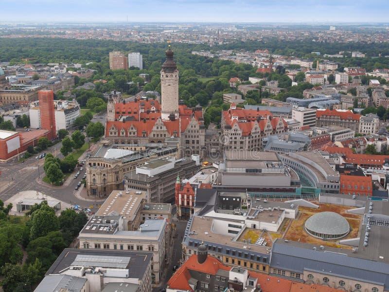 Leipzig-Vogelperspektive lizenzfreie stockfotos