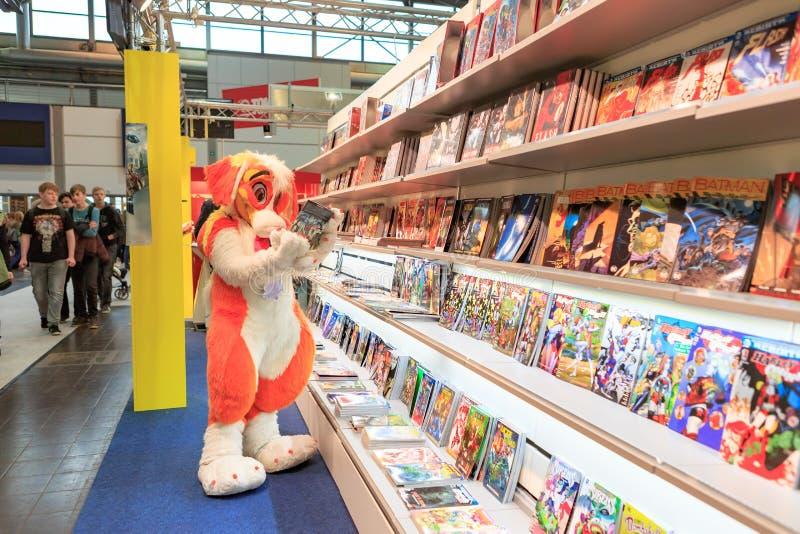 Leipzigeren Buchmesse royaltyfri bild