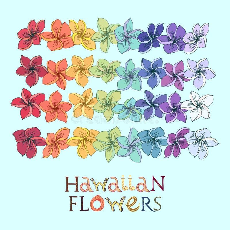 Leireeks van de regenboog Hawaiiaanse bloem royalty-vrije illustratie