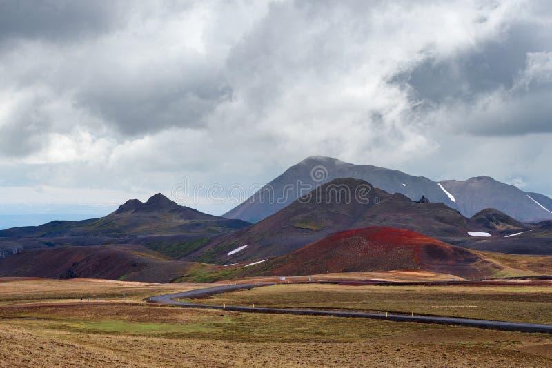 Leirhnjukur geotermiczny teren blisko wulkanu Krafla, Iceland fotografia royalty free