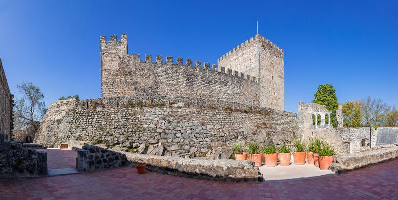Leiria, Portugal Halten Sie vom mittelalterlichen Schloss von Leiria lizenzfreies stockbild