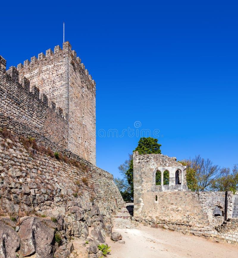 Leiria, Portugal Halten Sie vom Leiria-Schloss lizenzfreie stockfotos