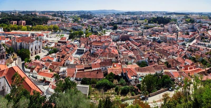 leiria Portugal Miasto widzieć od kasztelu Leiria Leiria obrazy stock