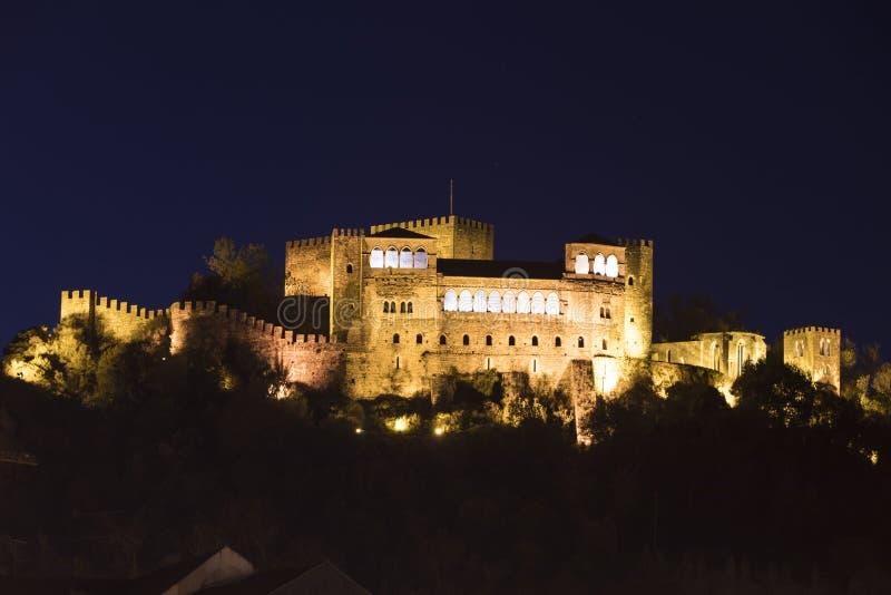 Leiria-Schloss, Portugal lizenzfreie stockfotografie