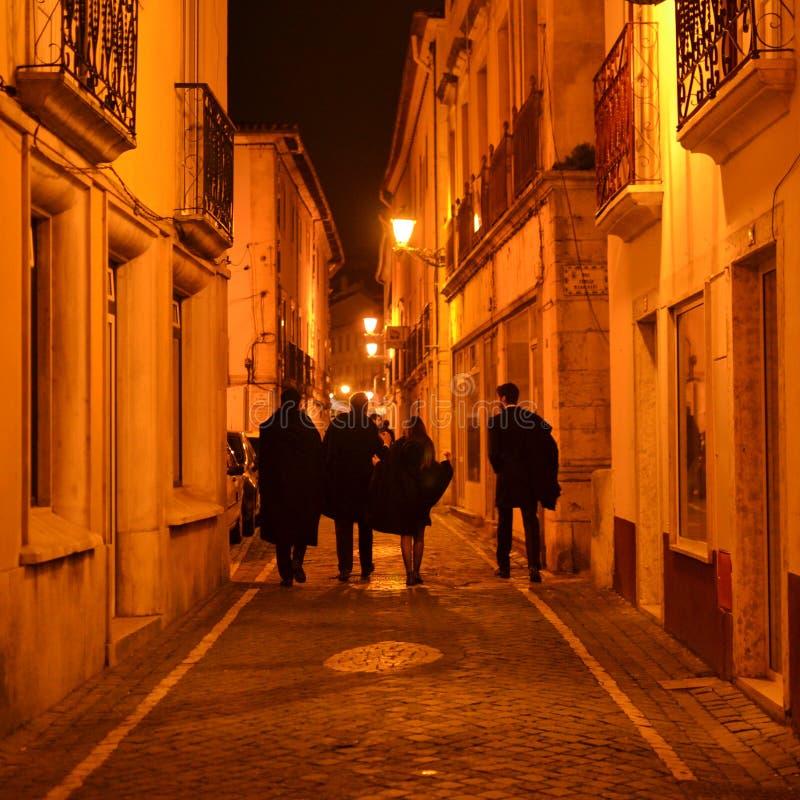 Leiria-Studenten, die auf die Straße gehen stockbild