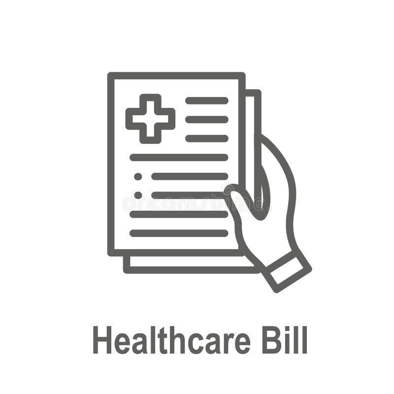 Leis da saúde e grupo legal do ícone que descrevem vários aspectos do sistema legal ilustração stock