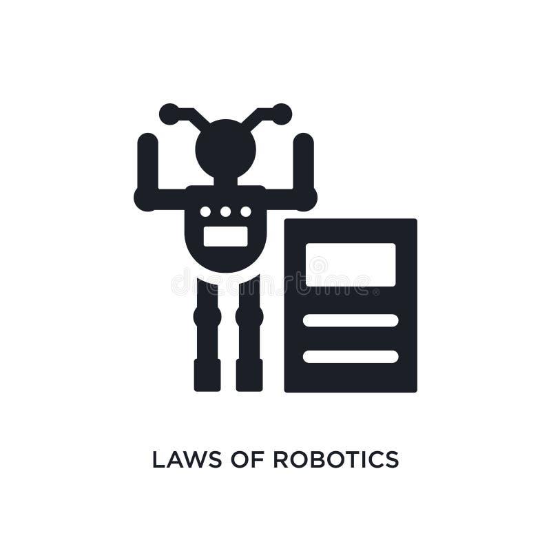 leis do ícone isolado robótica ilustração simples do elemento dos ícones artificiais do conceito do intellegence leis da robótica ilustração royalty free