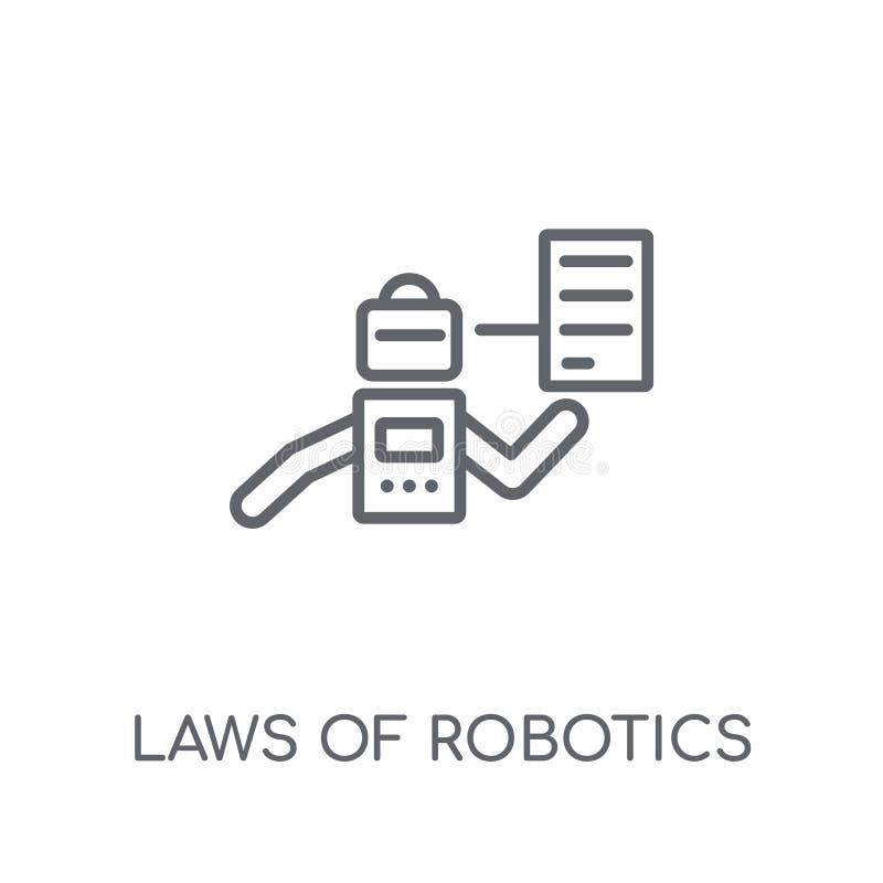 Leis do ícone linear da robótica Leis modernas do esboço do lo da robótica ilustração royalty free