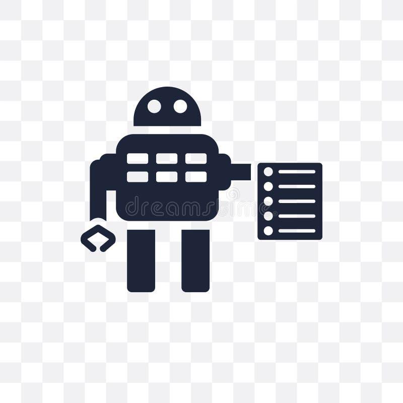 Leis do ícone transparente da robótica Leis do desig do símbolo da robótica ilustração stock