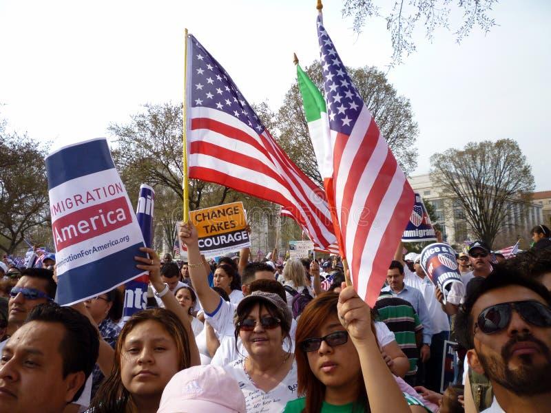 Leis em mudança da imigração imagens de stock