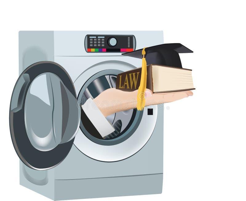 Leis limpas da entrega da máquina de lavar ilustração stock