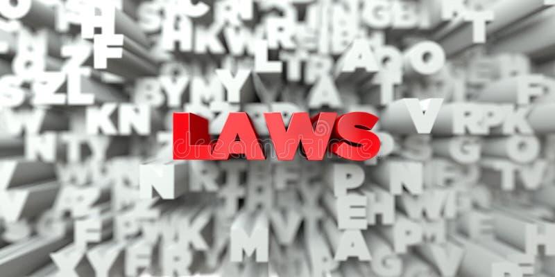 LEIS - Texto vermelho no fundo da tipografia - 3D rendeu a imagem conservada em estoque livre dos direitos ilustração stock