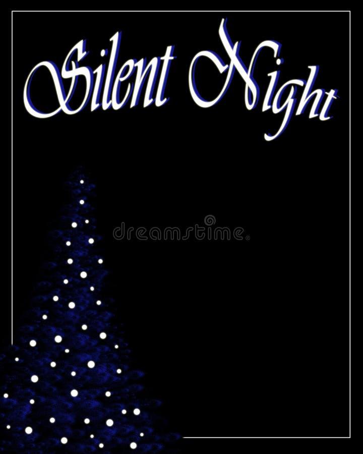 Leiser Nachtweihnachtshintergrund stockfoto