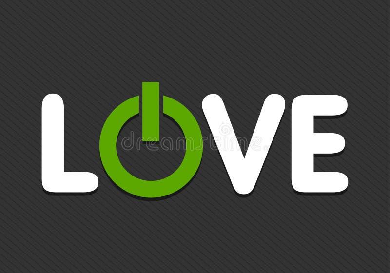 Leistung der Liebe lizenzfreie abbildung