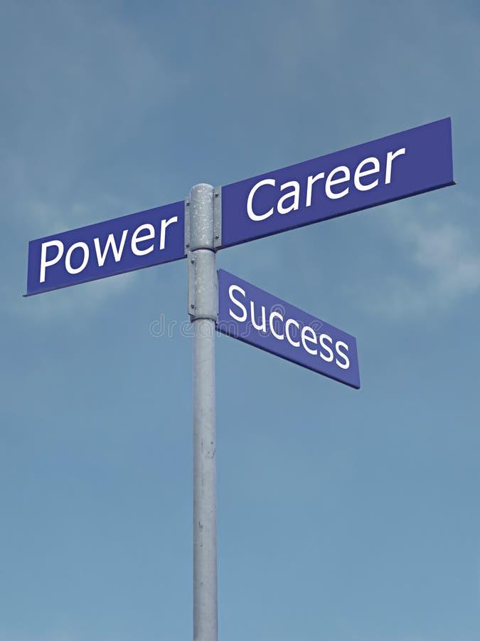 Leistung-, Erfolgs- und Karriererichtungen lizenzfreie stockbilder