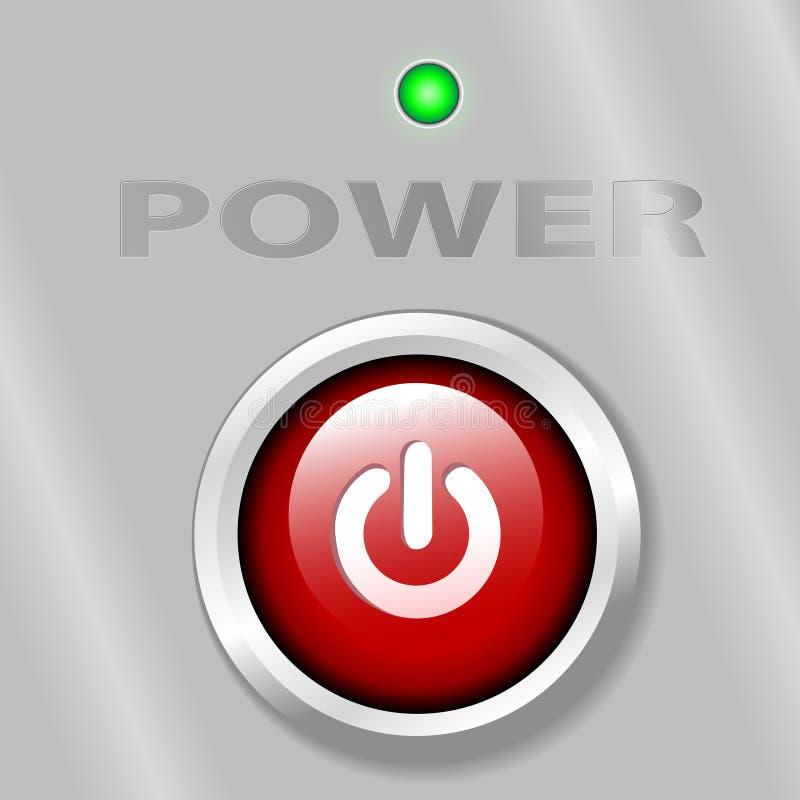 Leistung-Taste AUF LED-Hintergrund vektor abbildung