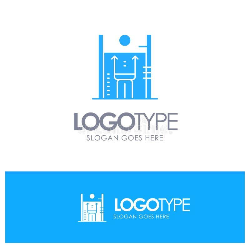 Leistung, Wachstum, Mensch, Verbesserung, Management-blaues festes Logo mit Platz für Tagline stock abbildung
