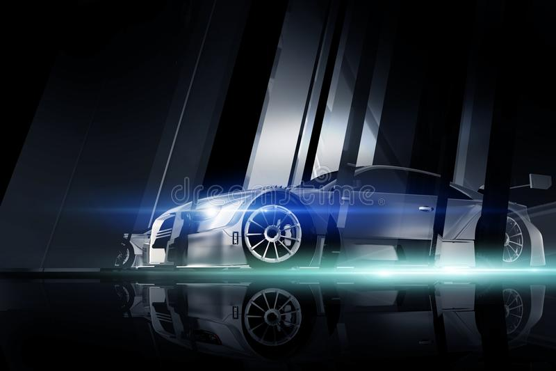 Leistungs-Fahrzeug stock abbildung