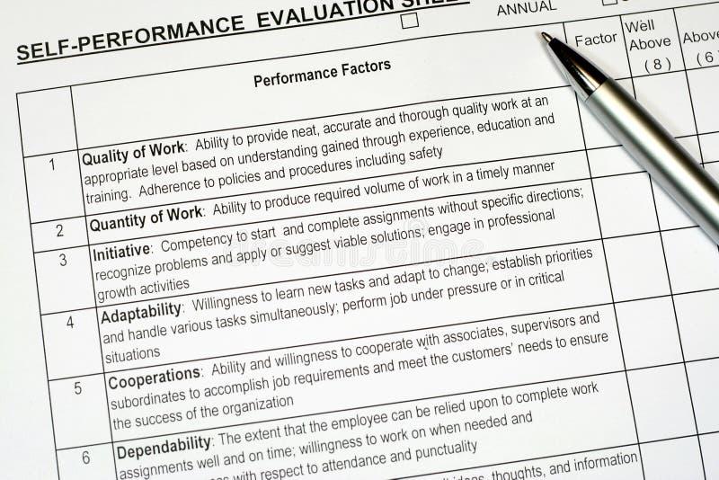 Leistungsbewertung-Report stockfotografie
