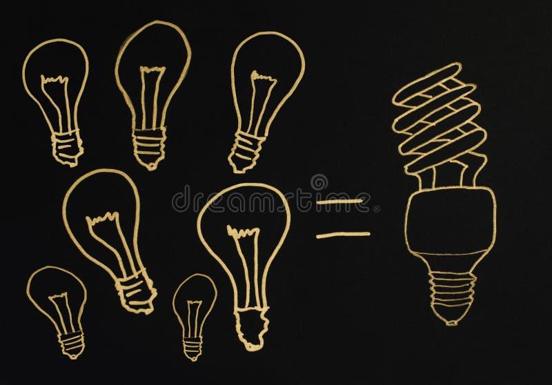 Leistungsfähige Lampen stock abbildung
