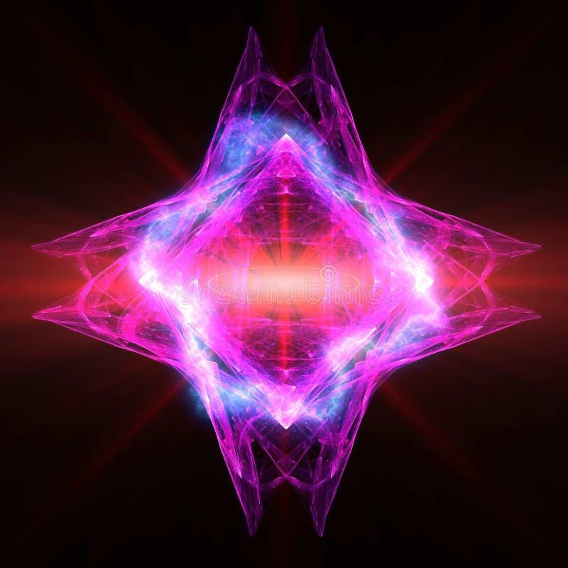 Leistungsfähiger Energie-Kristall stock abbildung