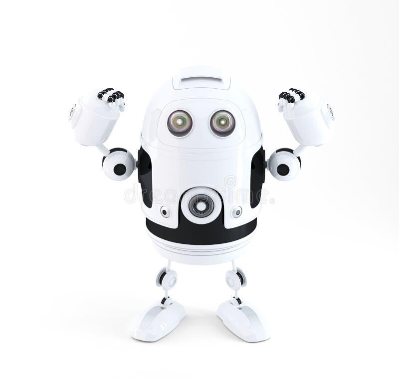 Leistungsfähiger Roboter lizenzfreie abbildung