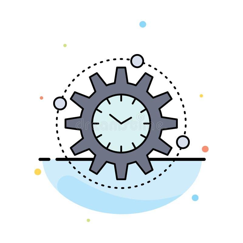 Leistungsfähigkeit, Management, verarbeitend, Produktivität, Projekt flacher Farbikonen-Vektor stock abbildung