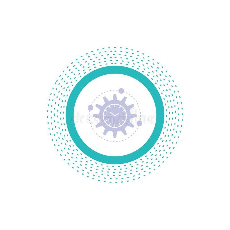 Leistungsfähigkeit, Management, verarbeitend, Produktivität, Projekt Glyph-Ikone Vektor lokalisierte Illustration stock abbildung