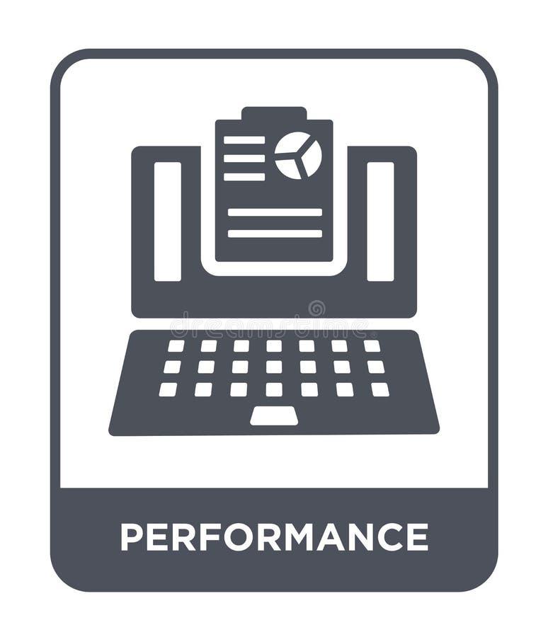 Leistungsikone in der modischen Entwurfsart Leistungsikone lokalisiert auf weißem Hintergrund Leistungsvektorikone einfach und mo stock abbildung