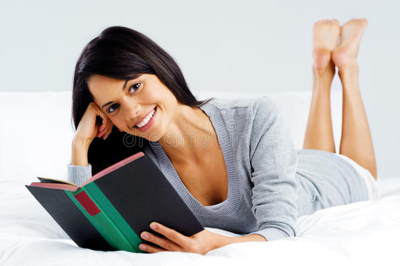 Download Leisure book woman stock photo. Image of literature, happy - 27342820