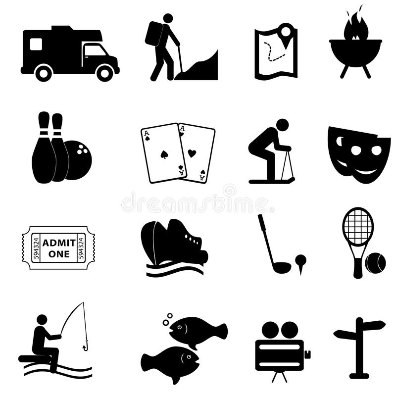 Leisure and fun icons royalty free illustration