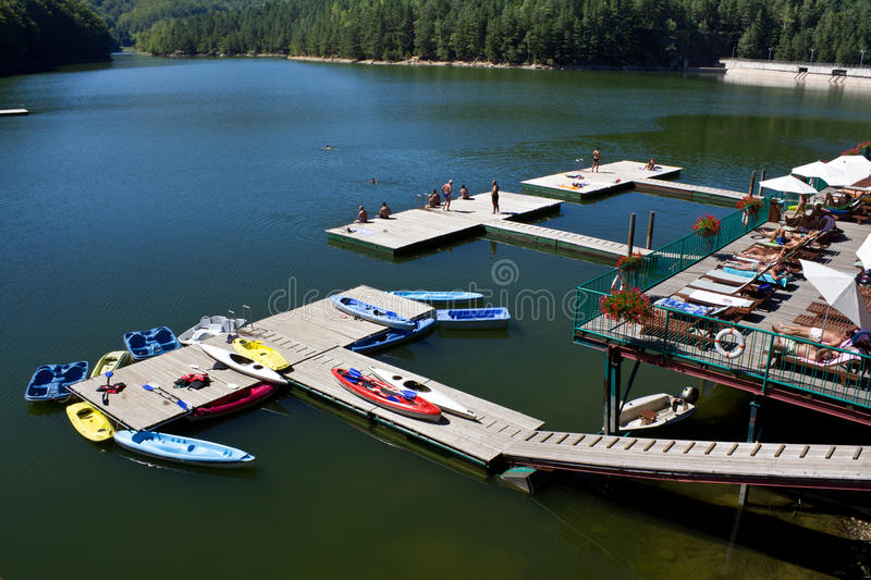 A leisure lake royalty free stock images