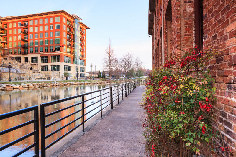 River Walk SC Downtown Greenville South Carolina royalty free stock image