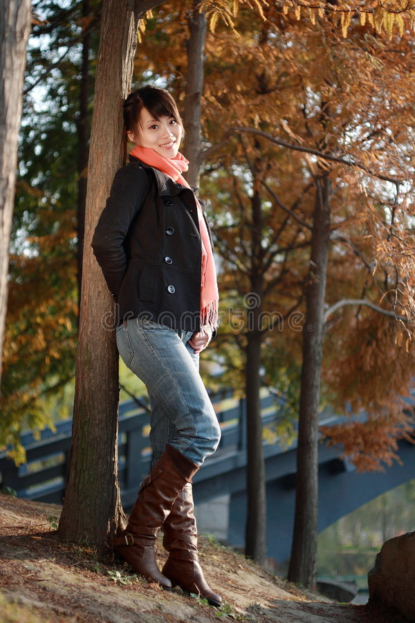 Download The leisure time in autumn stock photo. Image of female - 7320672