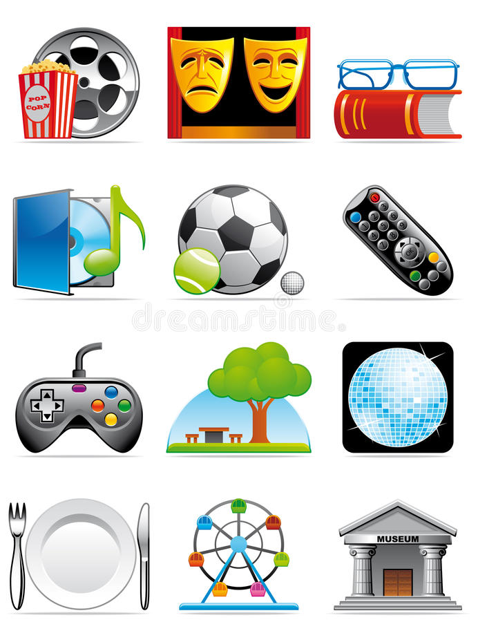 Download Leisure time icons stock illustration. Illustration of theater - 11513014