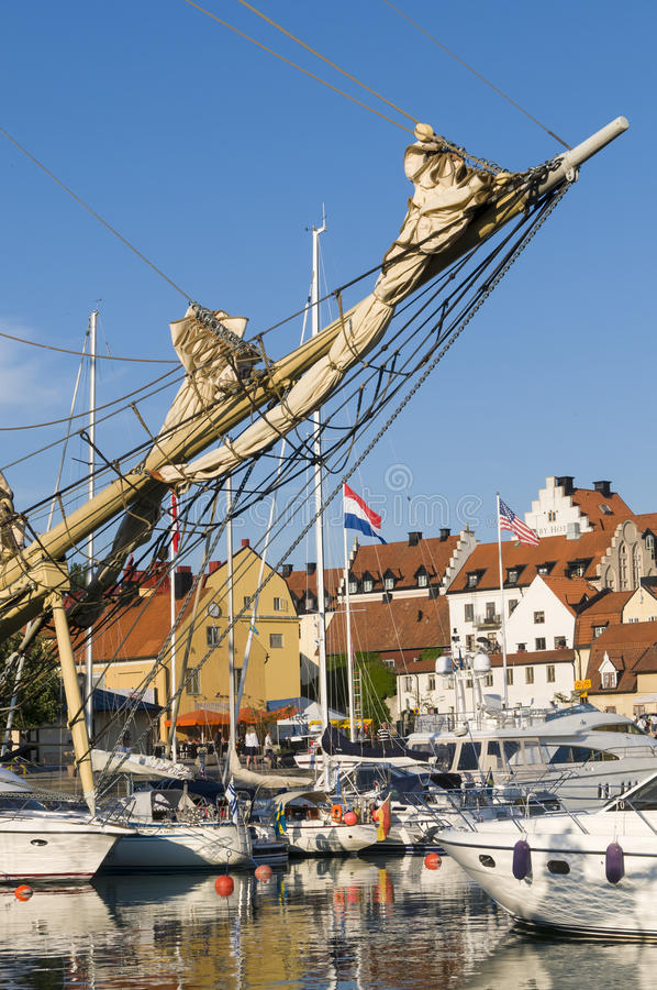 Visby客人港口 库存照片
