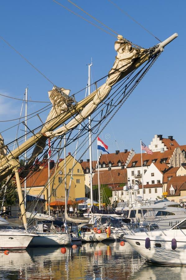 Puerto de la huésped de Visby fotos de archivo