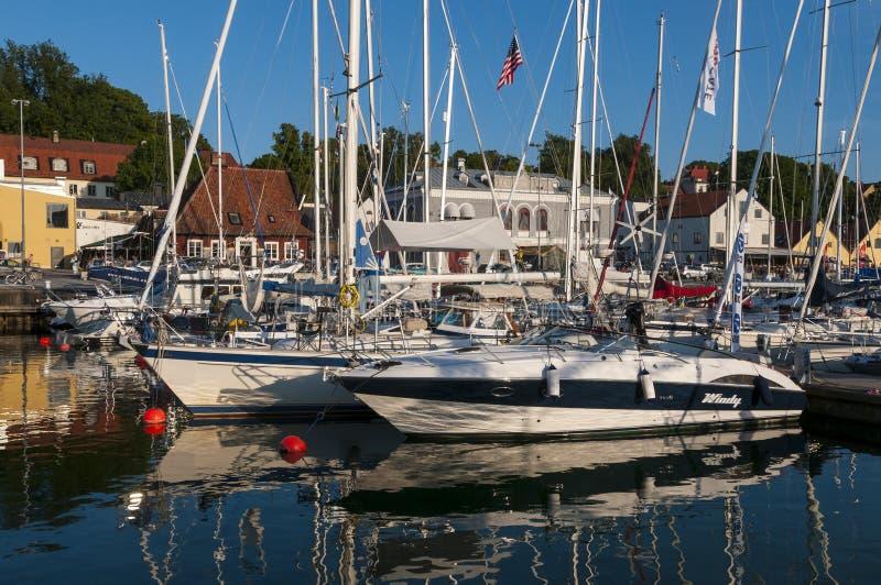 Leisureboats Visby Gasthafen stockfoto
